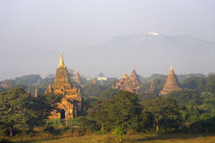 Temples of Bagan in early morning. Myanmar. Royalty Free Stock Image