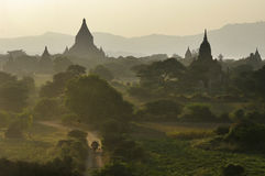Temples of Bagan in early morning. Royalty Free Stock Photos