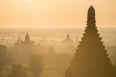 Temples in Bagan Royalty Free Stock Photography