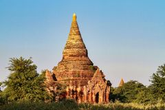Temples of Bagan in the Mandalay Region of Burma, Myanmar. Temples of Bagan, an ancient city located in the Mandalay Region of Burma, Myanmar, Asia royalty free stock image