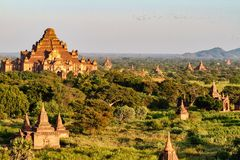 Temples of Bagan in the Mandalay Region of Burma, Myanmar. Temples of Bagan, an ancient city located in the Mandalay Region of Burma, Myanmar, Asia stock photography