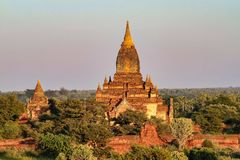 Temples of Bagan in the Mandalay Region of Burma, Myanmar. Temples of Bagan, an ancient city located in the Mandalay Region of Burma, Myanmar, Asia stock photo