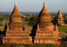 Temples in Bagan Myanmar Stock Image