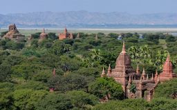Temples in Bagan Myanmar (Burma) Stock Images