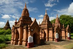 Temples in Bagan, Myanmar Royalty Free Stock Photo