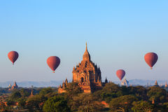 The Temples of bagan at sunrise, Bagan, Myanmar royalty free stock photos