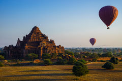 The Temples of bagan at sunrise, Bagan, Myanmar Royalty Free Stock Images