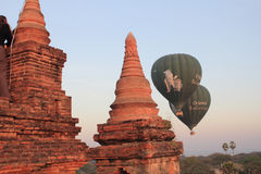 The Temples of bagan at sunrise, Bagan, Myanmar Royalty Free Stock Photography