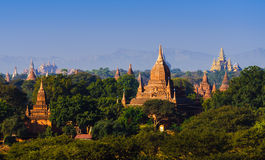 The Temples of bagan at sunrise, Bagan, Myanmar Stock Photography