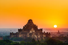 The  Temples of Bagan at sunrise, Mandalay, Myanmar Royalty Free Stock Image