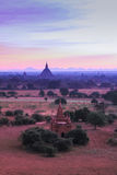 The Temples of bagan at sunrise stock photo