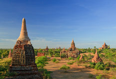 The Temples of bagan at sunset, Bagan, Myanmar Stock Images