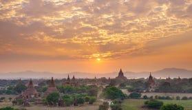 The Temples of Bagan at sunset, Bagan, Myanmar Royalty Free Stock Photography