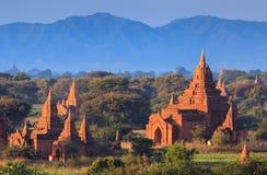 The Temples of Bagan at sunset, Bagan, Myanmar Royalty Free Stock Photo