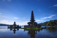 Temples at Bali Indonesia. Temples in the lake of Bali Indonesia Royalty Free Stock Photography