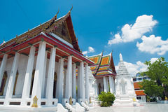 Temples of bankok. Beautiful bangkok temple in the view of the sky Royalty Free Stock Photography