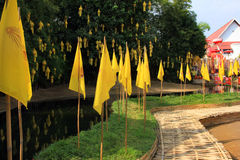 Temples bouddhistes de Chiang Mai - Wat Phan Tao et ses moines, Thaïlande Images libres de droits