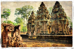 Temples cachés Photos stock