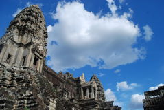 Temples Of Cambodia. Bluebird day at ankor watt temple Stock Images