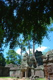 Temples Of Cambodia. Cambodia temples on a stunning bluebird day Royalty Free Stock Photography