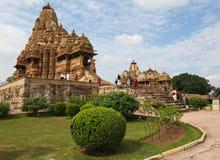 Temples chez Khajuraho, Inde Images libres de droits