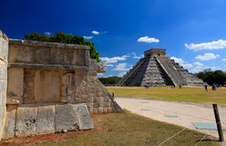 The temples of chichen itza temple in Mexico Stock Images