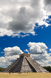 The temples of chichen itza temple in Mexico Royalty Free Stock Images