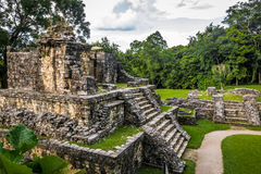 Temples of the Cross Group at mayan ruins of Palenque - Chiapas, Mexico. Temples of the Cross Group at mayan ruins of Palenque in Chiapas, Mexico royalty free stock images