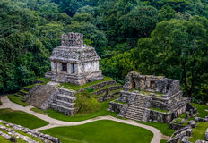 Temples of the Cross Group at mayan ruins of Palenque - Chiapas, Mexico. Temples of the Cross Group at mayan ruins of Palenque in Chiapas, Mexico Stock Photography