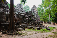 Temples d'Angkor Vat, Cambodge Photo stock