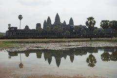 Temples d'Angkor Vat Siem Reap, Cambodge Photo stock