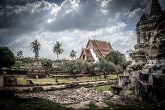 Temples d'Ayutthaya Image libre de droits