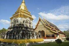 Temples d'or dans Chiangmai Photo stock