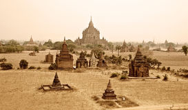Temples de Bagan Photographie stock