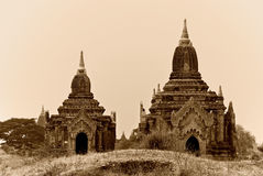 Temples de Bagan Photos stock
