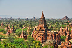 Temples de bagan, Birmanie Photographie stock libre de droits