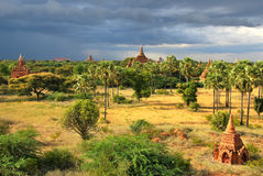 Temples de Bagan, Myanmar Photo stock