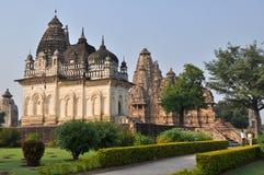 Temples de Brahman dans Khajuraho Photos stock