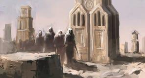 Temples de désert illustration stock