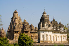 temples de khajuraho Image stock
