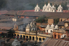 Temples de Pashupatinath Images stock