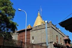Temples de Shirdi Sai dans les endroits de dévotion de l'Inde image stock
