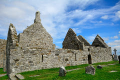 Temples of Dowling and Hurpan, Clonmacnoise, Ireland. Temples of Dowling and Hurpan in Clonmacnoise, Ireland Royalty Free Stock Images
