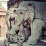 Temples of Durbar Square in Bhaktapur, Kathmandu, Nepal. Royalty Free Stock Images