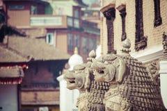 Temples of Durbar Square in Bhaktapur, Kathmandu, Nepal. Stock Photos
