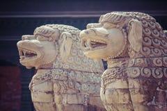 Temples of Durbar Square in Bhaktapur, Kathmandu, Nepal. Royalty Free Stock Photos