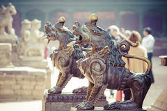 Temples of Durbar Square in Bhaktapur, Kathmandu, Nepal. Royalty Free Stock Photos
