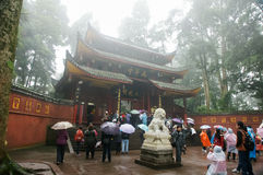 Temples of Emei mountain in Sichuan, China Stock Photo