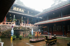 Temples of Emei mountain in Sichuan, China Royalty Free Stock Images