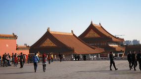 Temples Of The Forbidden City In Beijing China Royalty Free Stock Image